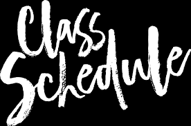 Click here for class schedule