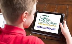 FCS student using a tablet on Digital Learning Day