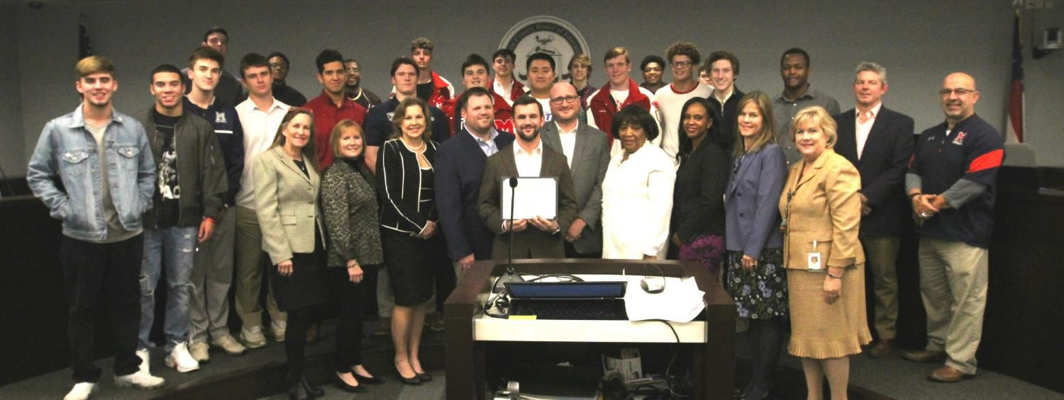 Milton High School Football Board Recognition
