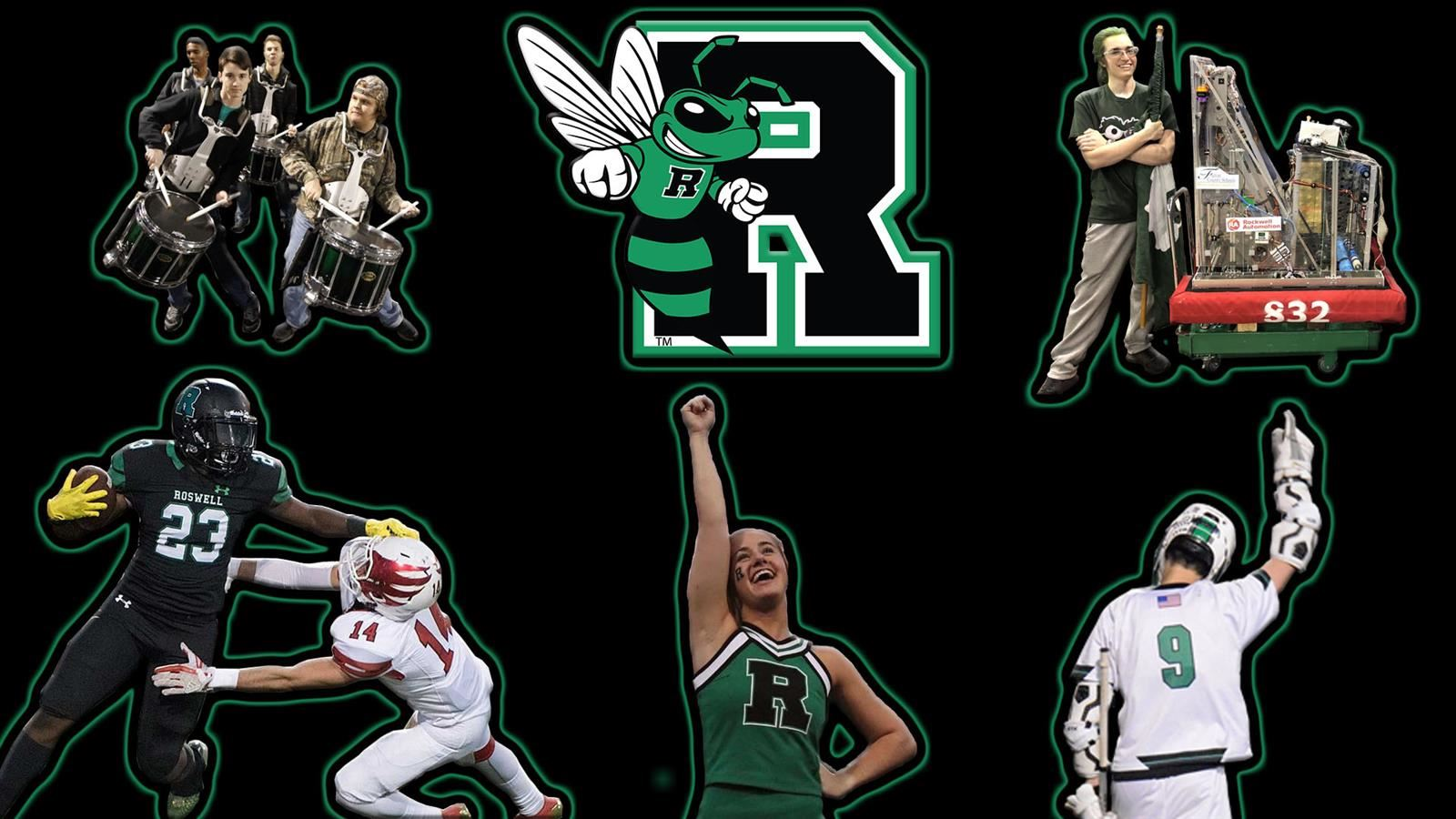 Collage of Roswell High Activities.