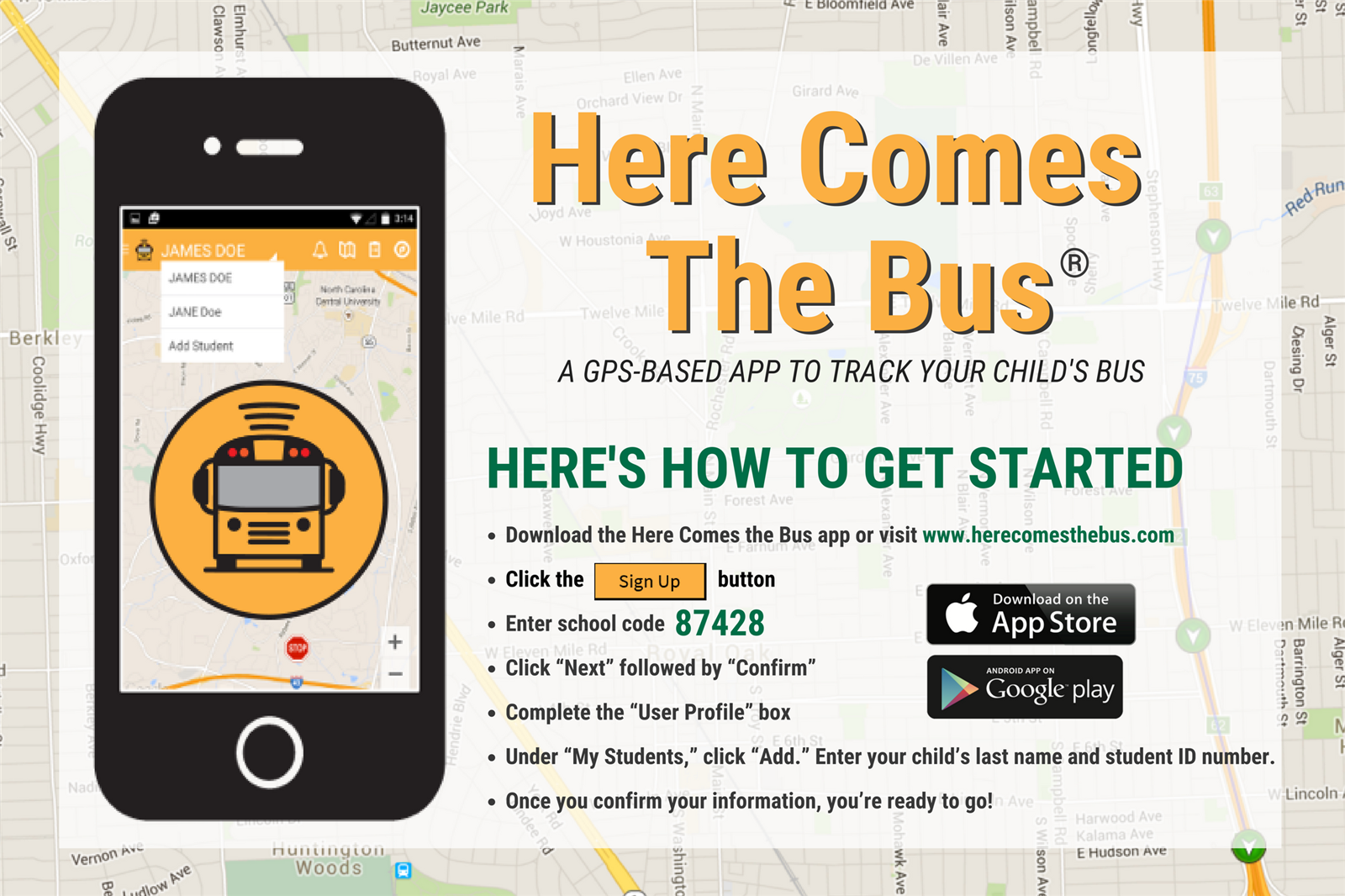 Here Comes The Bus InfoGraphic