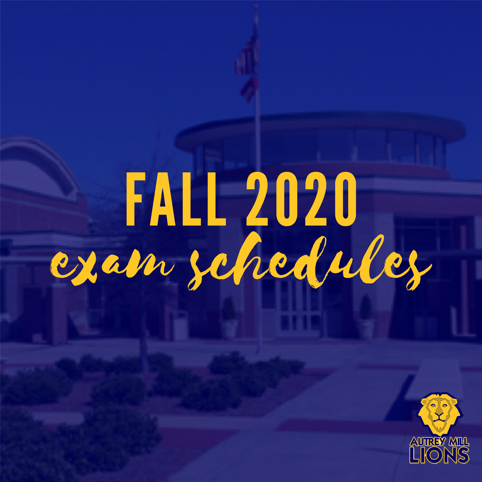 Fall 2020 Exam Schedules