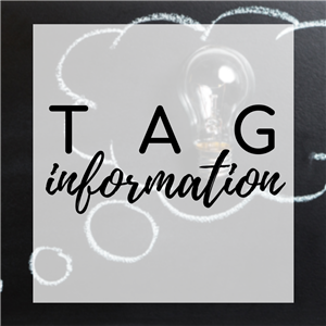 Tag information text and link