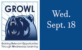 GROWL this Wednesday