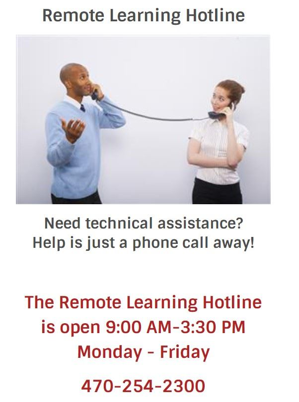 Remote Learning Hotline