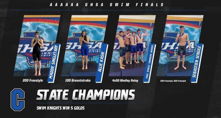 State Swimming Championships - Knights Win 5 Golds