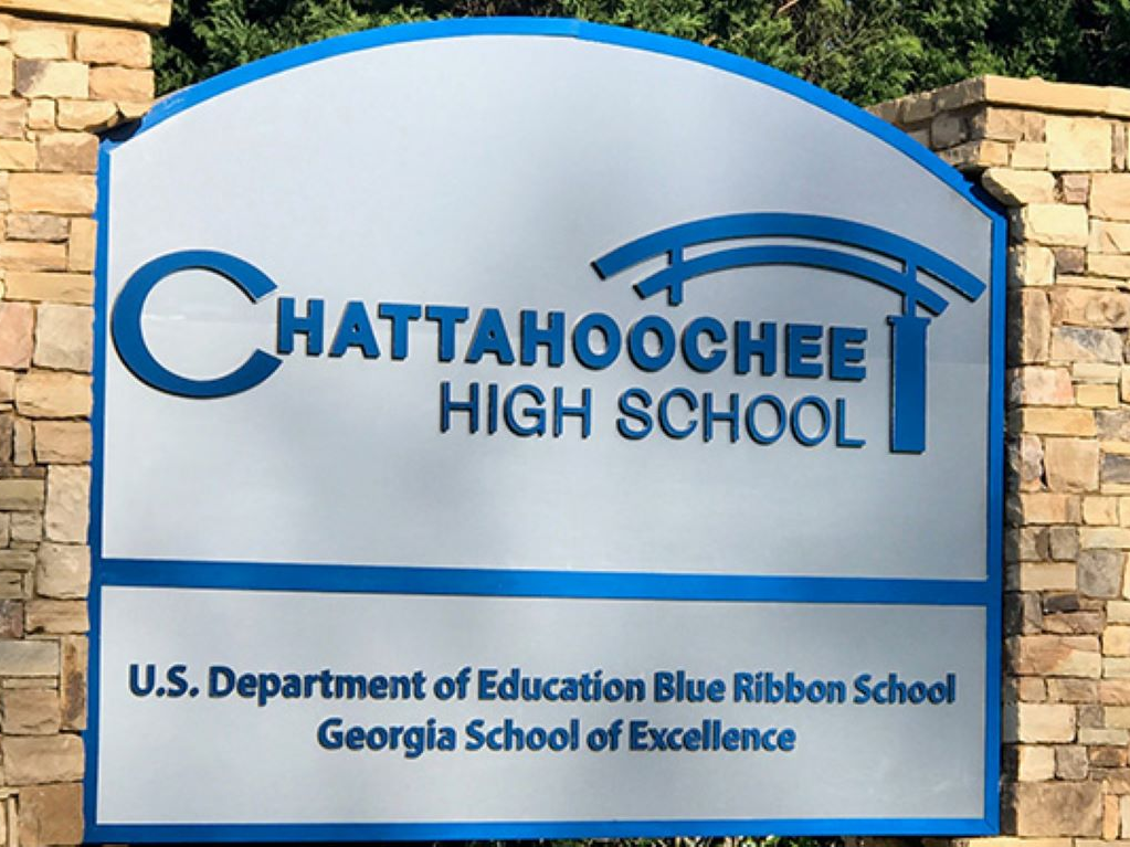 school sign image