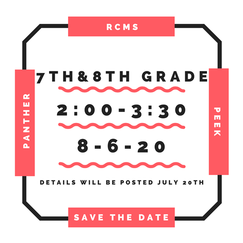 Image of the save-the-date for 7th/8th Grade Panther Peek