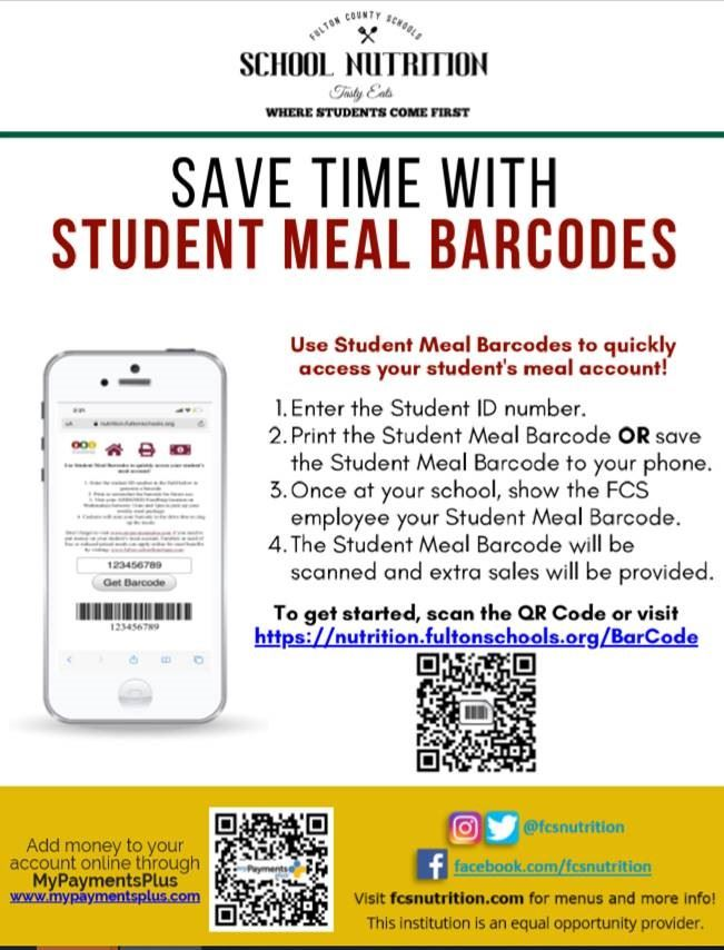 Student Meal Card/Barcode
