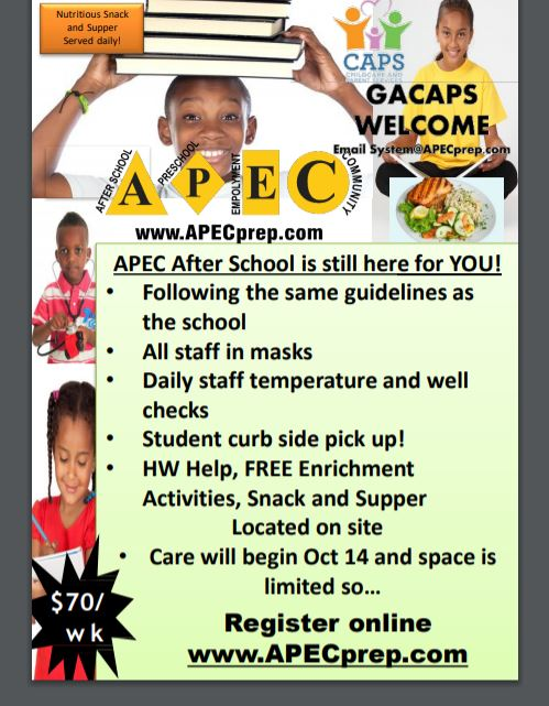 APEC After School is still HERE for you!  CLICK HERE FOR DETAILS!
