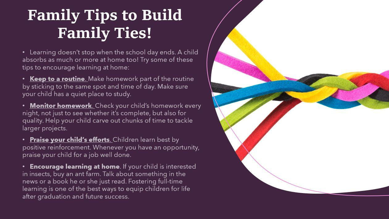 Family Tips to Build Family Ties!
