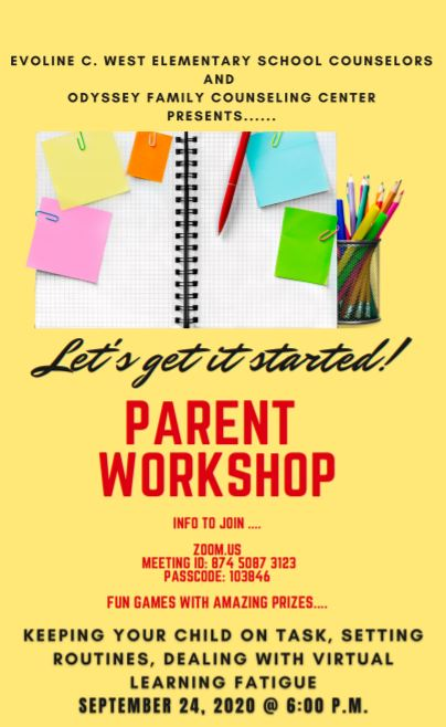 Parent Workshop!!!  Don't Miss Out!