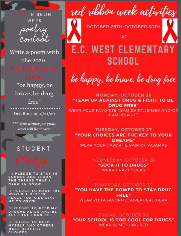 Red Ribbon Week!!