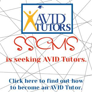 SSCMS is seeking AVID Tutors. Click here to find out how to become an AVID Tutor.