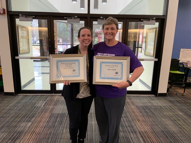 Jana Paulk is our Teacher of the Year and Renee Morris is our School Professional of the Year!