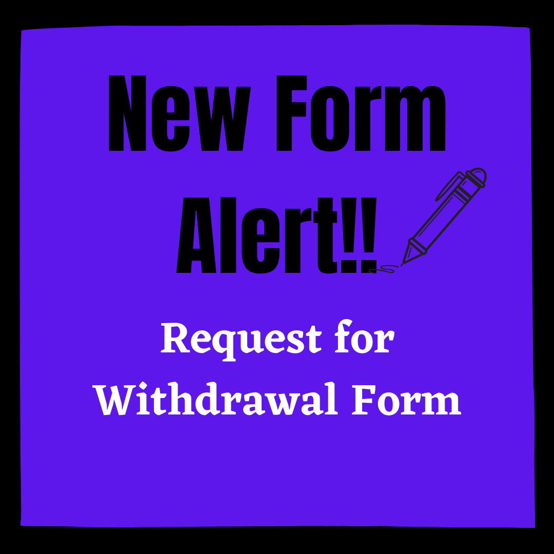 Request for withdrawal form