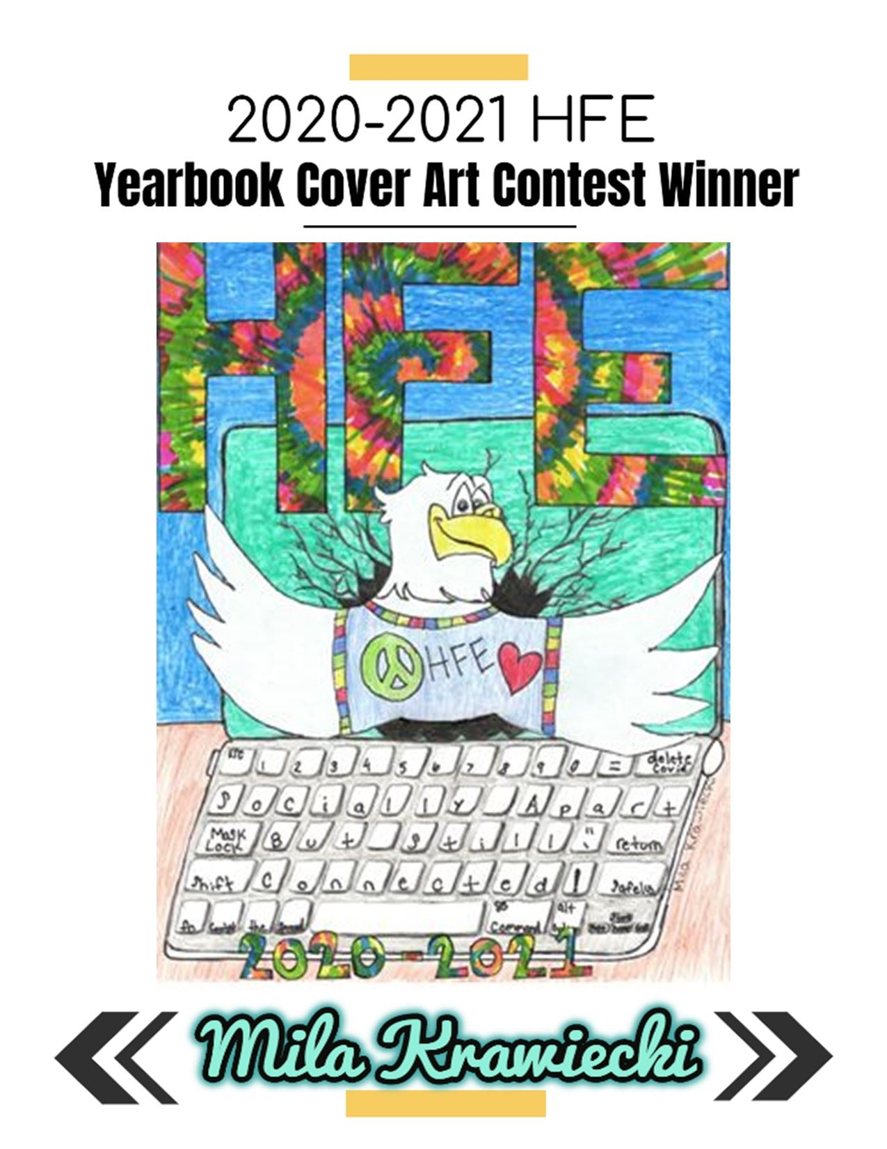2020-2021 Yearbook Cover Art Winner