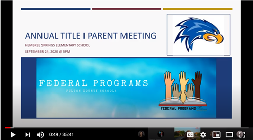 Link to Annual Title I Parent Meeting