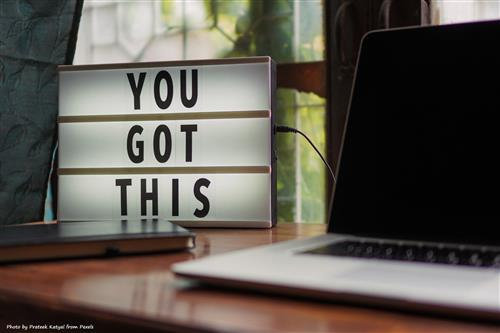 laptop with message - you got this