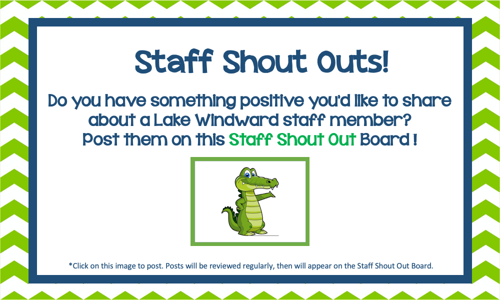 LWE Staff Shout Outs