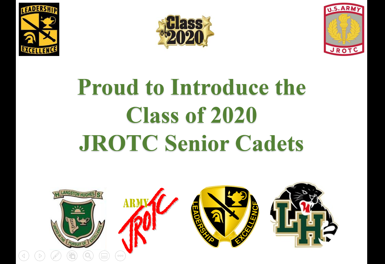 JROTC Senior Tribute - Click below to view the Power Point Tribute