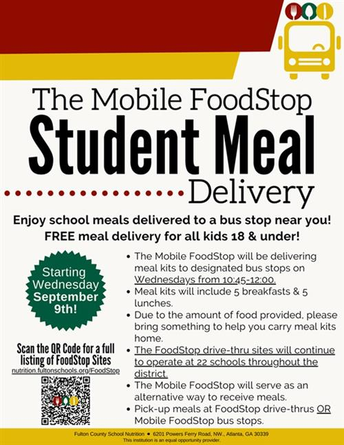 Flyer Student Meal Delivery
