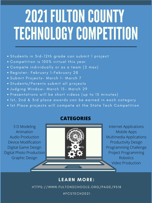 FCS Technology fair informational graphic