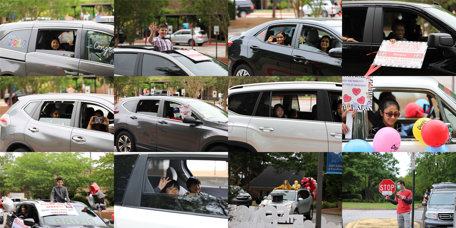 car parade collage 4
