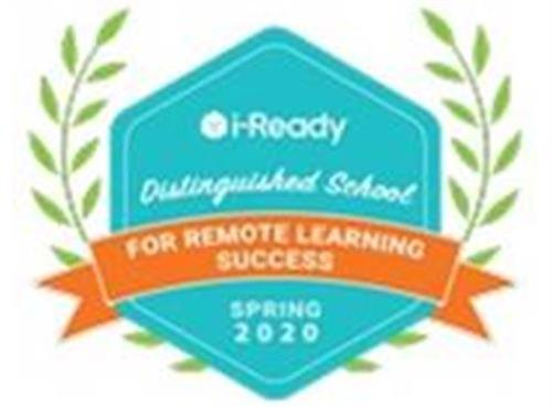 2020 i-Ready Distinguished School for Remote Learning Success badge