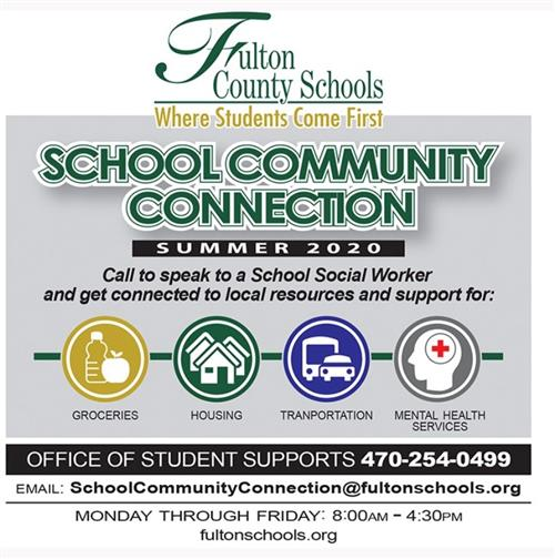 School Community Connection graphic