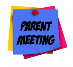 Parent Meeting written on Post It Notes