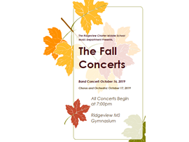 Fall Concert Flyer for October 2019