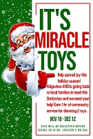 """Miracle Toys"" - RCMS and RICS AVID are collecting toys to be donated to needy families -> Dec. 12"