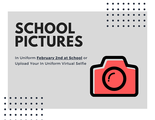 Image announcing school pictures