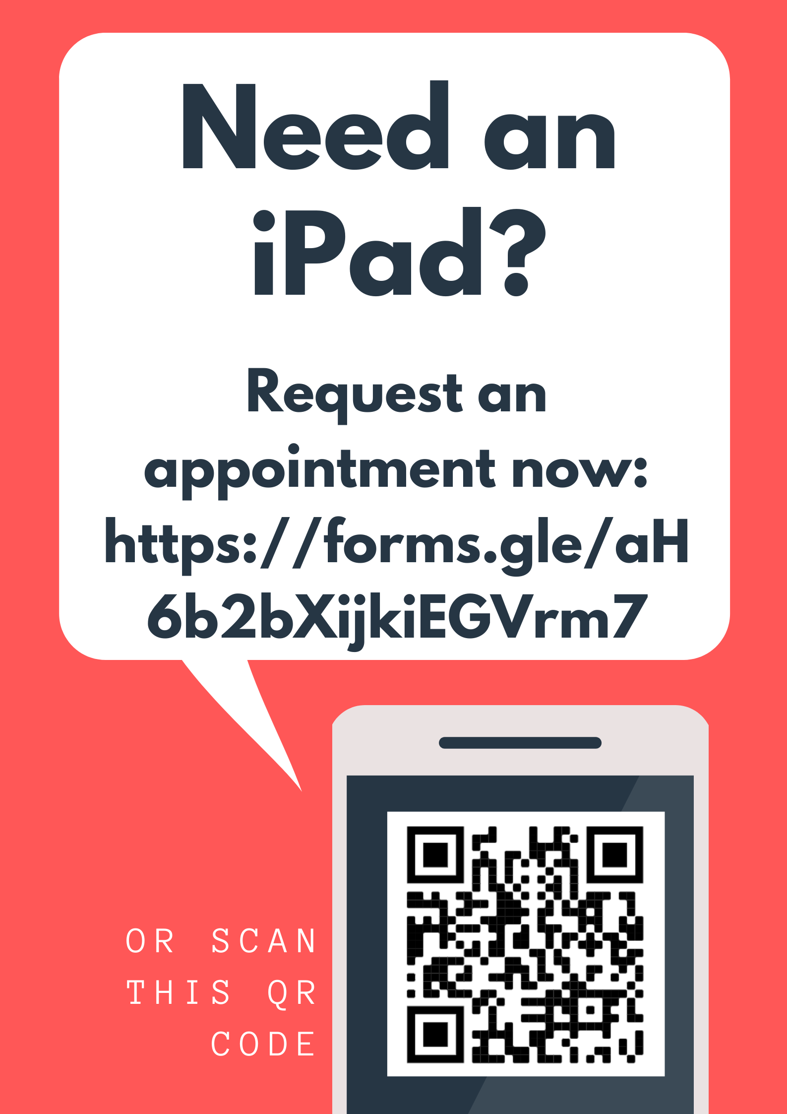iPad Appointment QR Code and Link