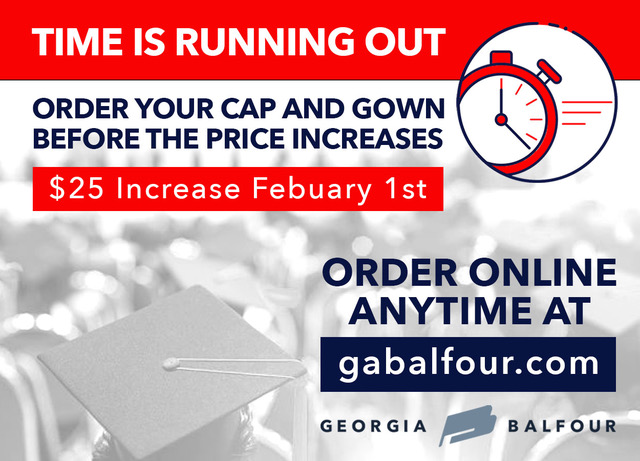 Seniors! It's time to order your Cap & Gown & Pay Senior Fees